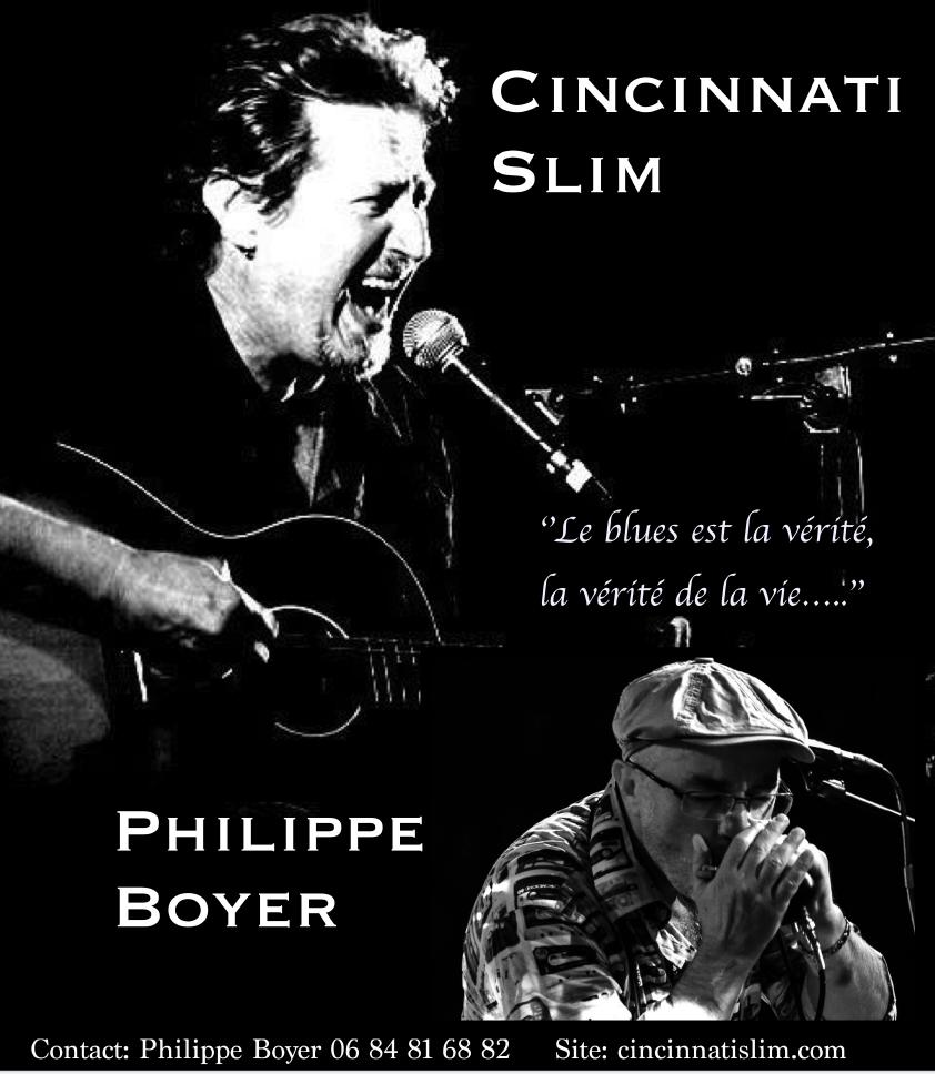 Concerts de Blues avec Cincinnati Slim et Philippe boyer / 1ère partie Lennback