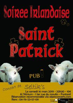 Saint Patrick - soirée Irlandaise avec le groupe Selttiks