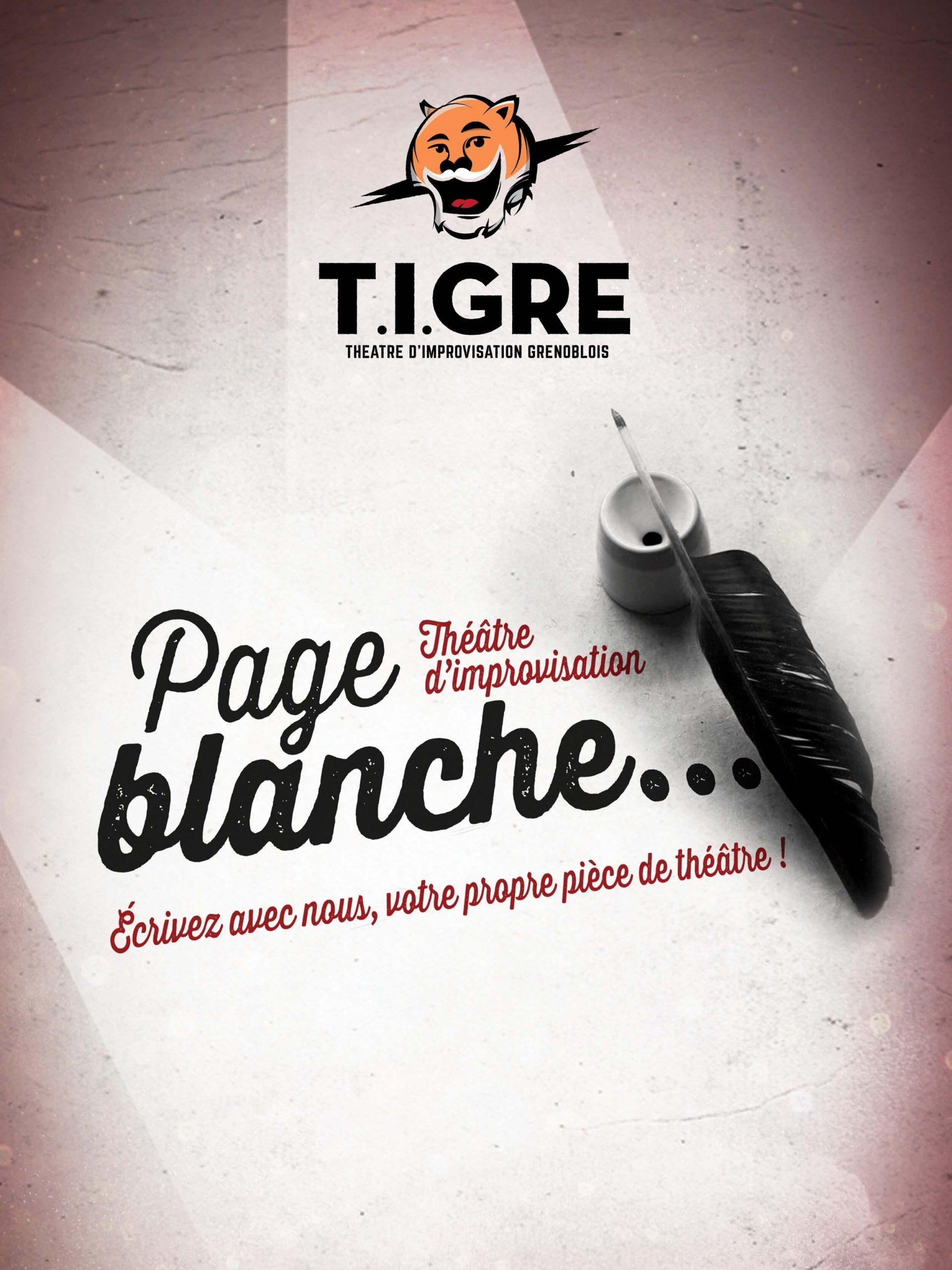 Page Blanche - Théâtre d'improvisation Cie Le Tigre